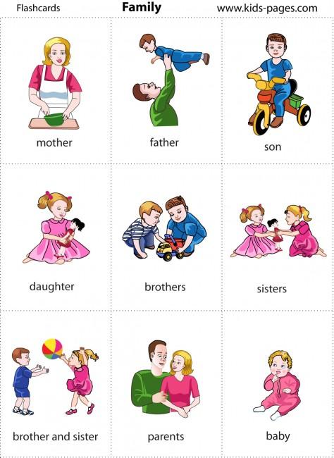 Materials for kindergarten the family for Nombres de arboles en ingles