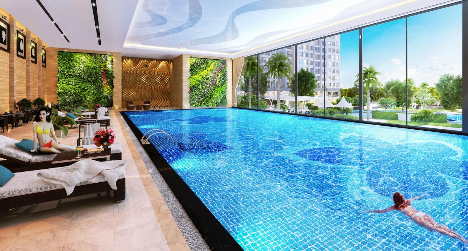 Bể bơi trong nhà T&T DC Complex Định Công