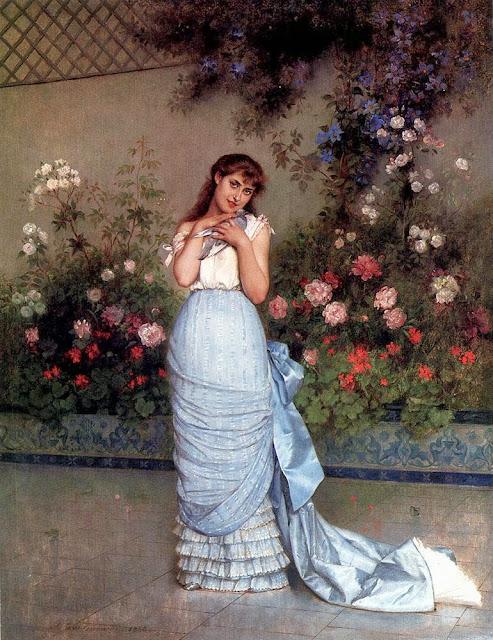 Auguste Toulmouche - An Elegant Beauty.