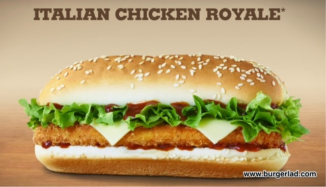 Burger King Italian Chicken Royale