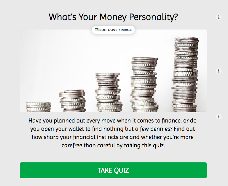money personality quiz cover with title, image, description, and CTA