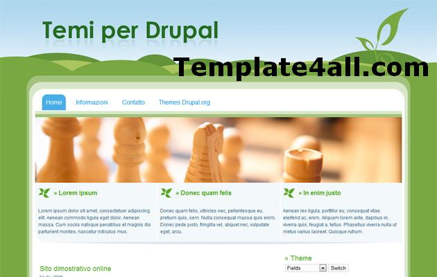 Free Green Fields Nature Drupal 6 Theme