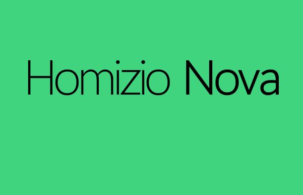Homizio Nova Free Fonts