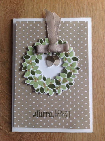 Stampin up Wondrous Wreath