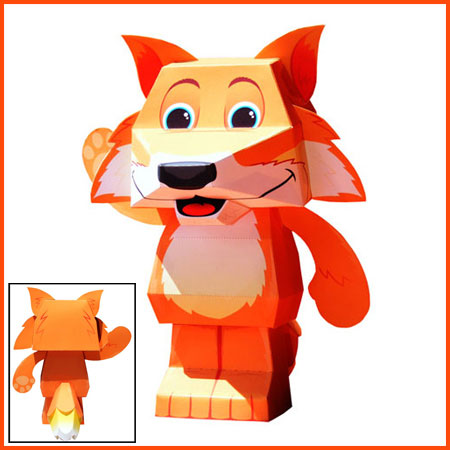 2012 Firefox Paper Toy Mascot