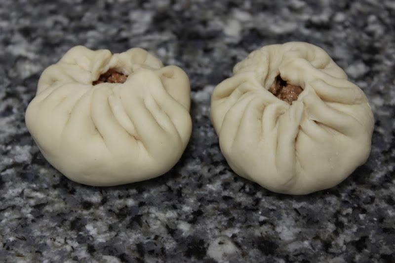 Baozi - Bollos chinos al vapor - Antes de cocer