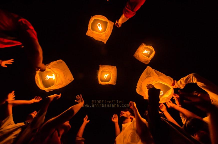 anirban, sky lantern, kolkata, diwali