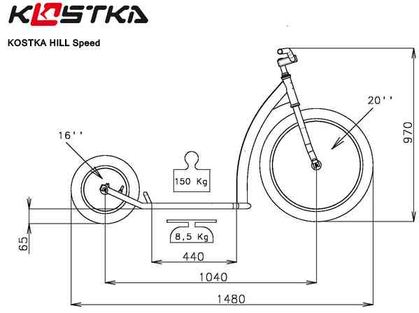 dimensions de la trottinette Kostka Hill Speed