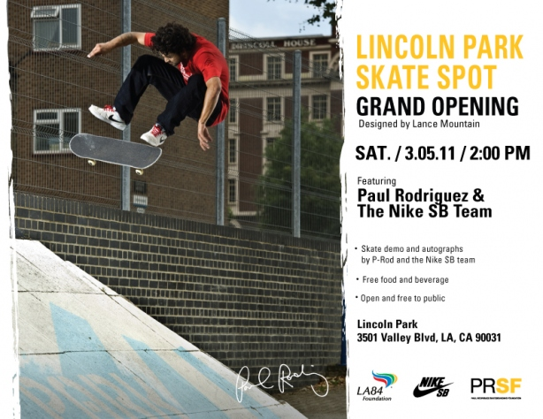 Lincoln Skate Park, Lance Mountain, Paul Rodriguez, California Skateparks