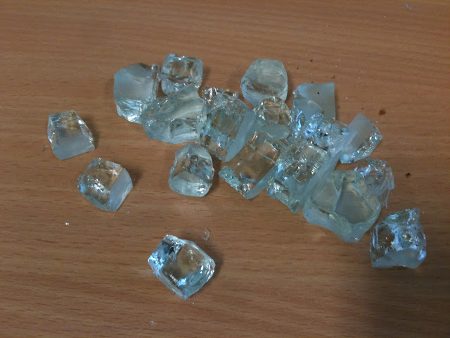 Balustrade glass broken into pieces - New home