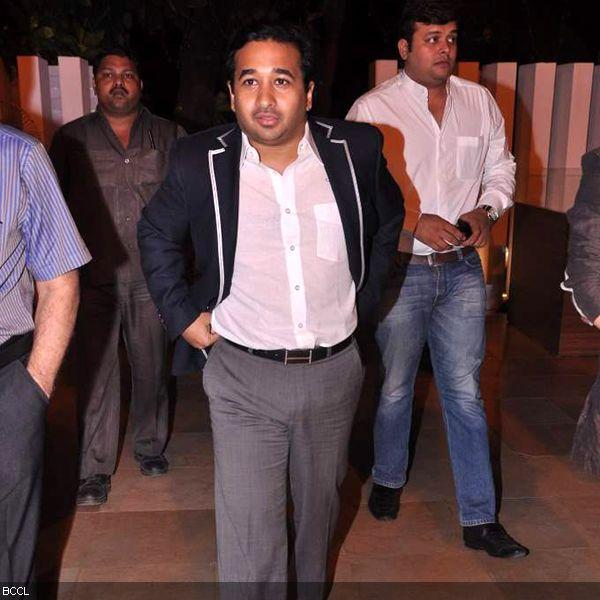 Politico Nitesh Rane arrives at the press meet of MIFTA Awards, held in Mumbai, on May 27, 2013. (Pic: Viral Bhayani)
