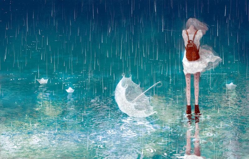 Thơ mưa cô đơn