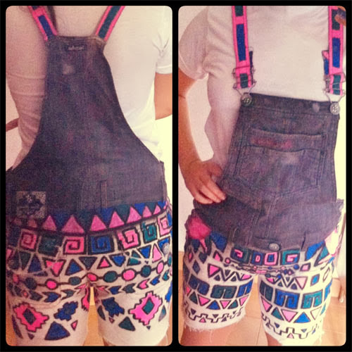 customização de jardineira jeans
