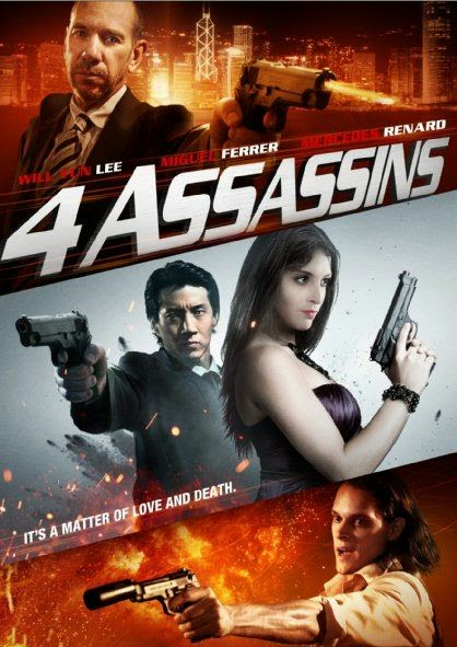 Poster Of English Movie Four Assassins (2013) Free Download Full New Hollywood Movie Watch Online At Alldownloads4u.Com