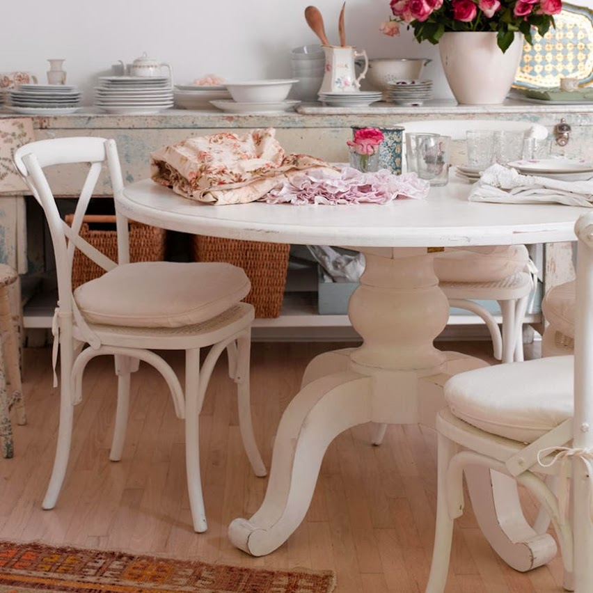 Shabby Chic Kitchen Table Centerpieces: Como Decorar Un Comedor Shabby Chic