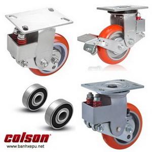 Bánh xe công nghiệp PU chống rung chịu tải (450~500kg)