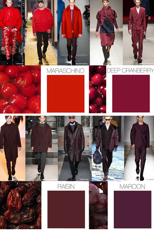 Fiery Red Tones - Men's Color Trends F/W 2016 -16 [men's fashion]