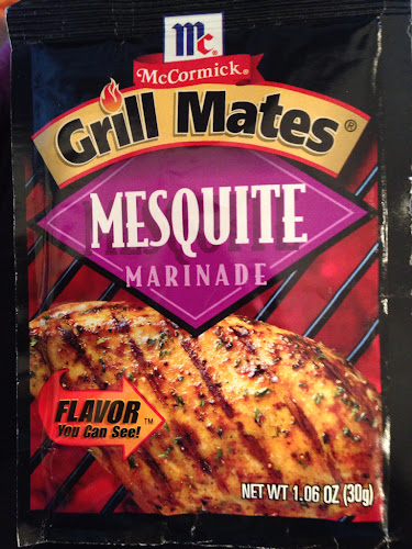 McCormicks Grill Mates Mesquite marinade, grilled mesquite flavored salmon