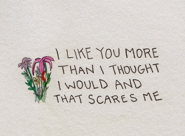 I Like You More Than I Thought I Would And That Scares Me.