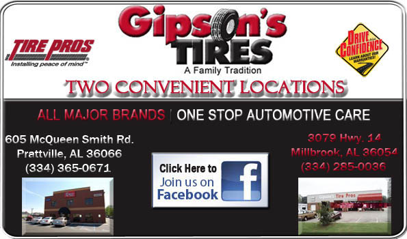 Gipsons, Gipson's tires, Tire Pros, in prattville, alabama