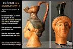Enócoe cabeza de mujer. Cultura griega