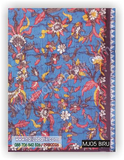 Baju Batik Seragam, Sarimbit Batik, Kain Batik, MJ05 BIRU