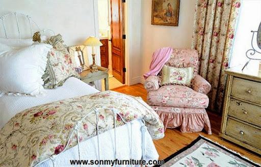 Rộn ràng hoa lá trong phòng ngủ mùa xuân hè_nội thất phòng ngủ-3