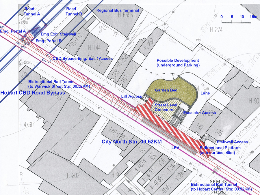 Hobart Light Rail Metro 7 Surface and Subsurface Station Design