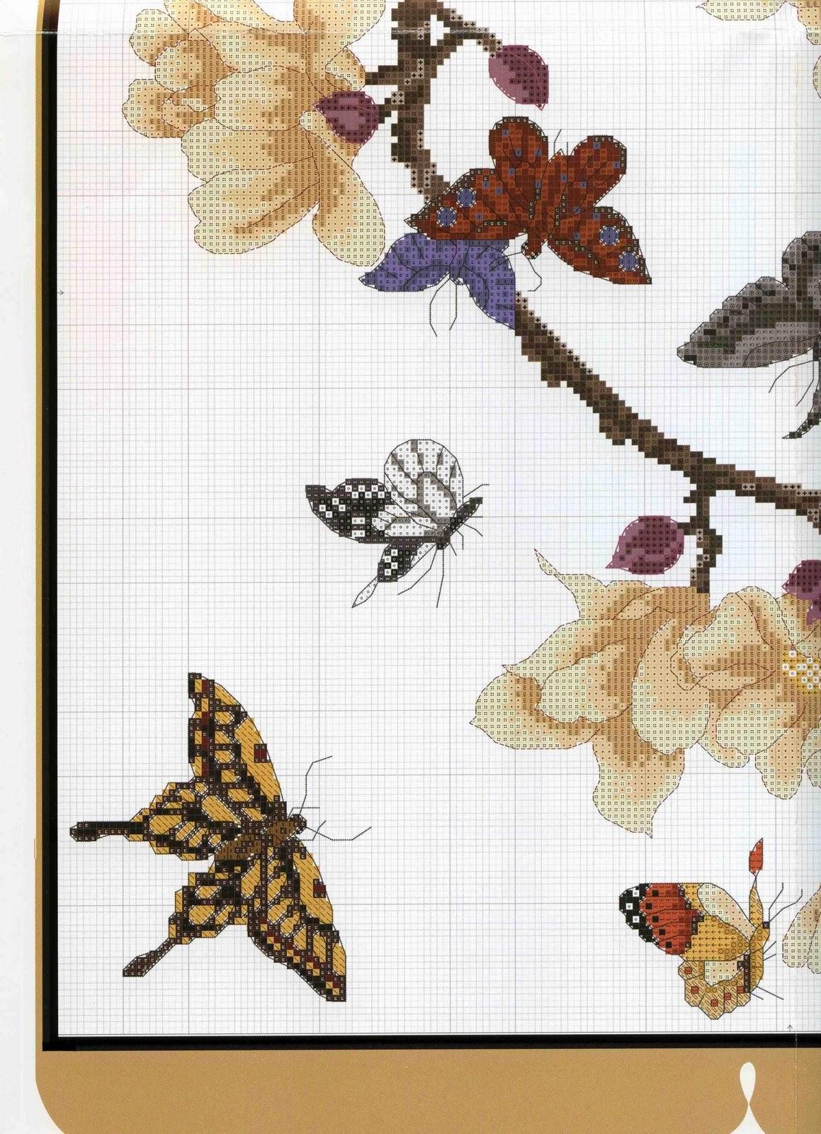 схемы вышивки японские мотивы вышивка крестом