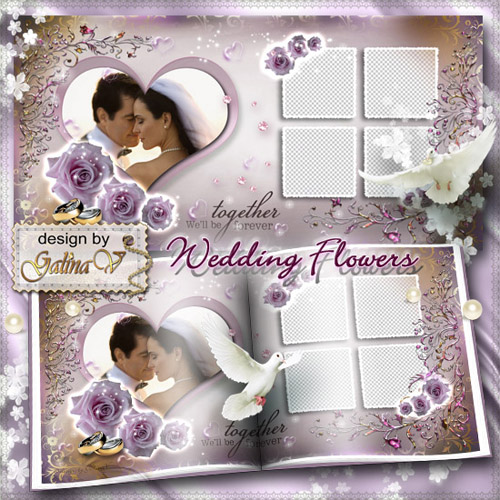 Romantic Photobook - Wedding Flowers