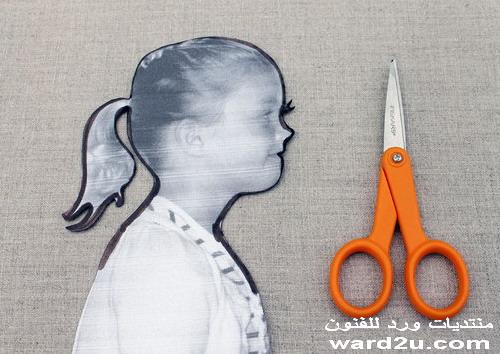 طريقة عمل بورتريه سلويت لطفلك Silhouette Art