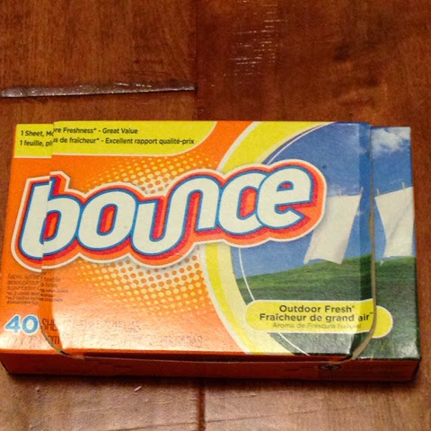 using bounce dryer sheets