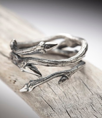 nature inspired branch ring