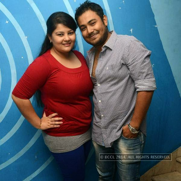 Reema and Atreya pose together during the launch party of newly opened pub 'Small World' in Chennai.