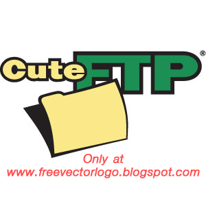 Cute FTP logo vector