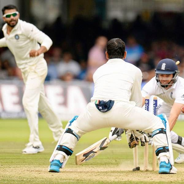 England's James Anderson is run out as India win the second cricket test match at Lord's cricket ground in London July 21, 2014.