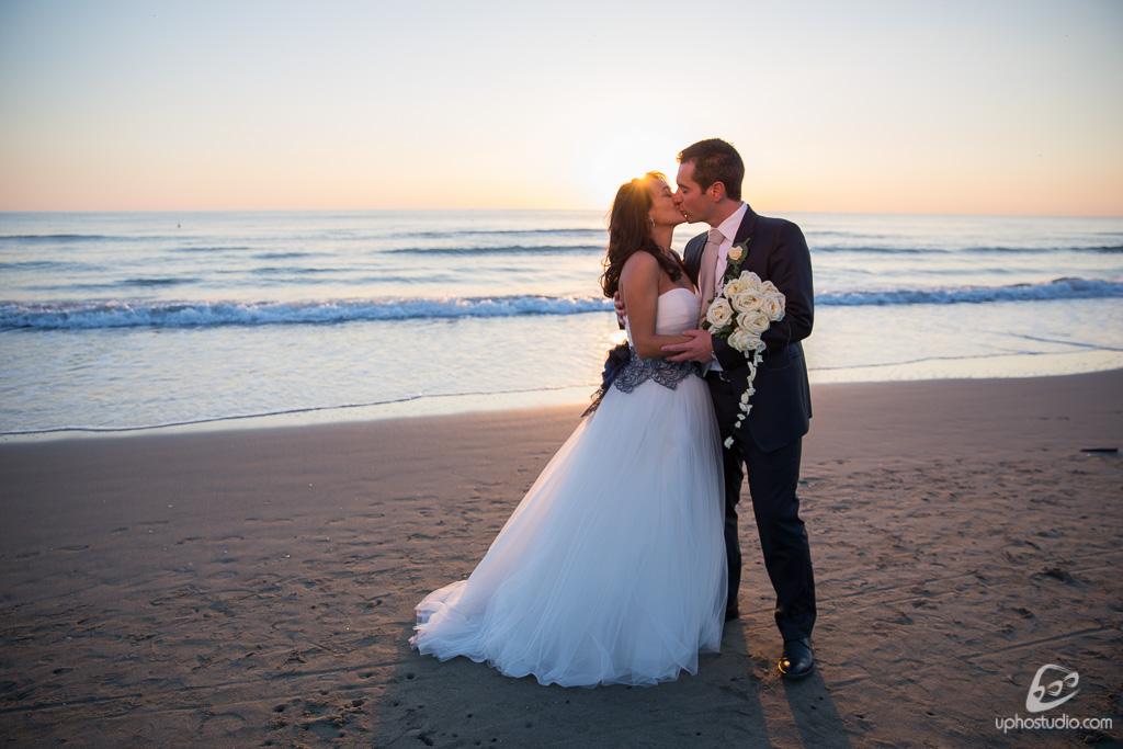 fotografia bacio sposi