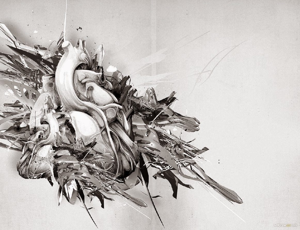 Abstract 3d black n white wallpper photo wallpapers for 3d search engine