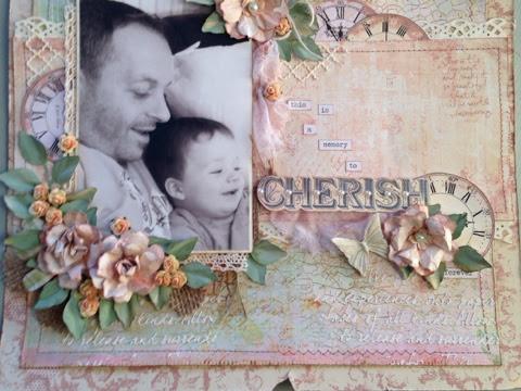 Cherish Scrapbook Page