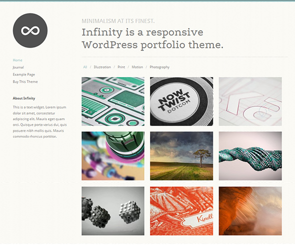 Infinity Grid-Based WordPress Theme