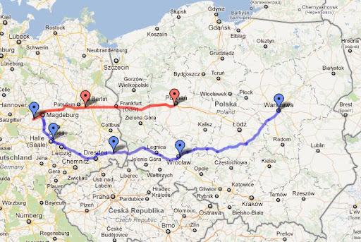 Przejazd na wyścig Scirocco w Oschersleben