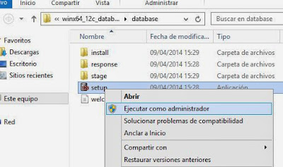 Instalar Oracle 12c Release 1 en Windows Server 2012 R2 Datacenter