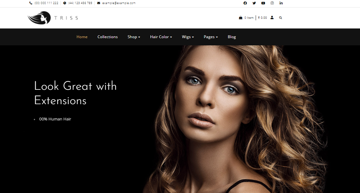 Triss - Hair salon shopify theme