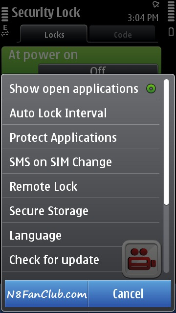 Protect your Apps and Games with Password on Nokia N8 via