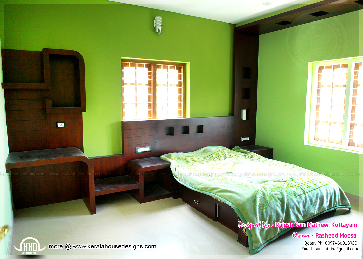 Kerala interior design with photos kerala home design - Interior design for bedroom in india ...