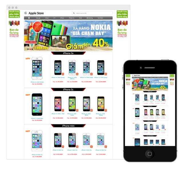Công ty Thabidu hợp tác thiết kế website bán hàng vnapple