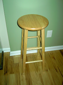 Wood Bar Stool (009)