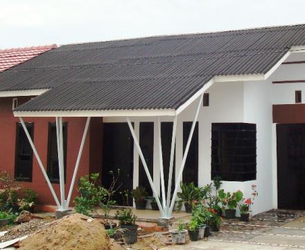 Atap lembaran Onduline Arsitektur rumah tinggal dan