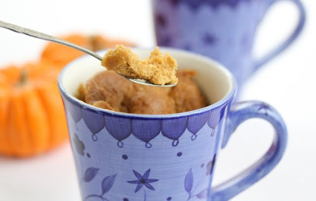 close-up photo of a Pumpkin Mug Cake