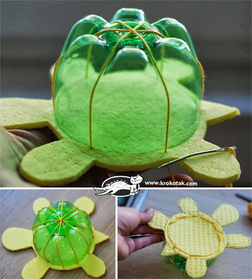 como fazer tartaruga PET